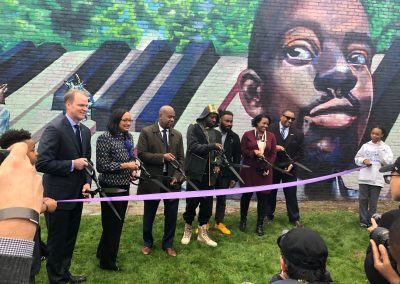Ribbon Cutting for GRAMMY Museum's Wyclef Jean mural